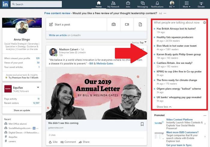 LinkedIn facilite la revue de presse