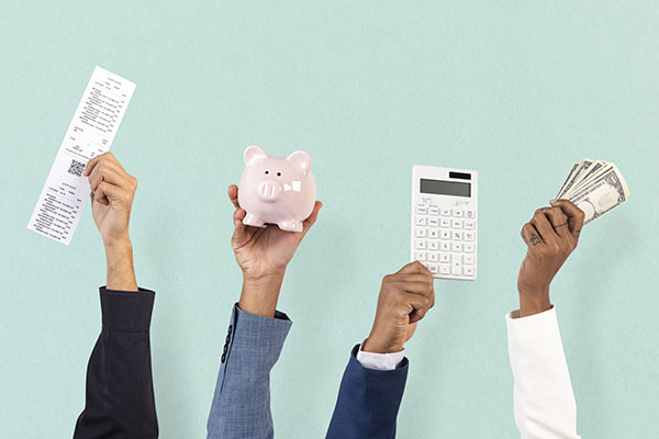 shopping budgeting financial concept